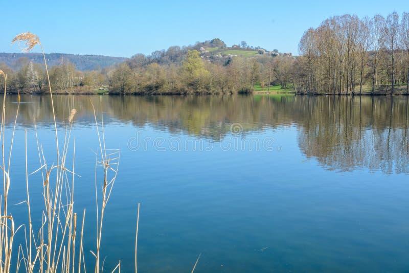 Na jeziorze Echternach w Luksemburgu fotografia royalty free
