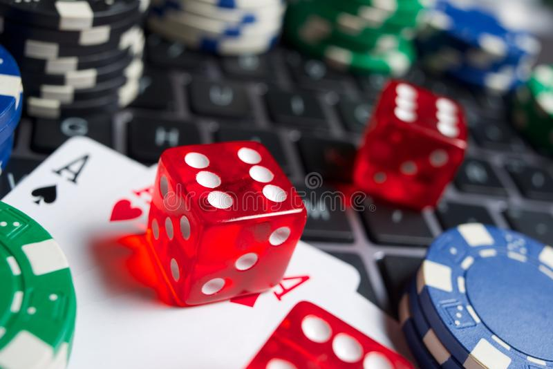 Na kreskowym uprawia hazard poj?ciu zdjęcie royalty free