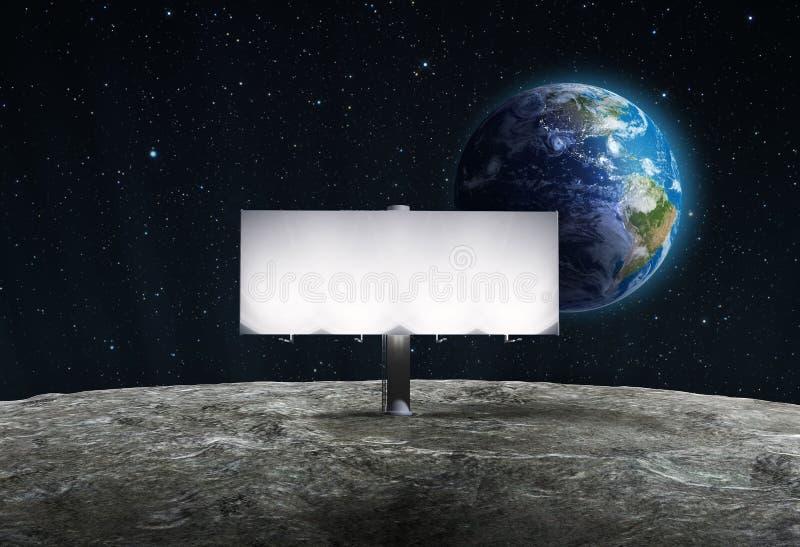 Na Księżyc reklamowy billboard royalty ilustracja