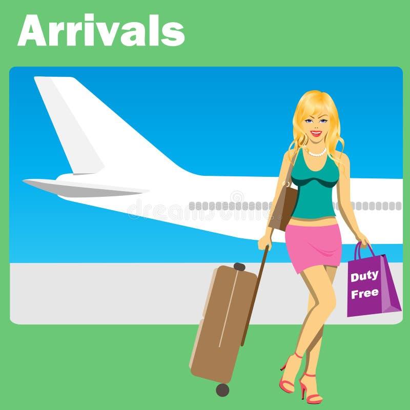 na lotnisko royalty ilustracja