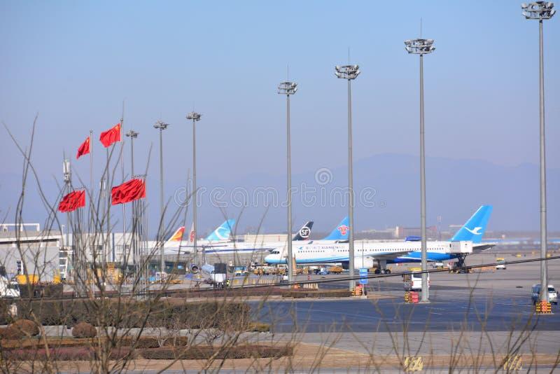 na lotnisku międzynarodowym Beijing zdjęcie stock