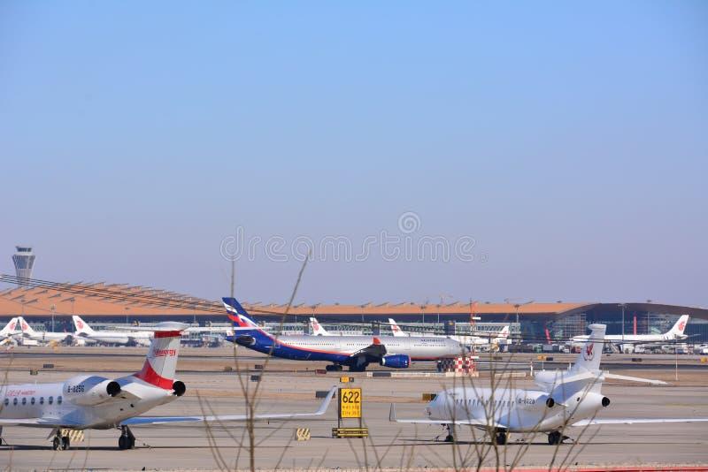 na lotnisku międzynarodowym Beijing obraz stock