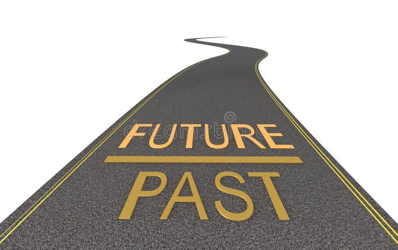 Na maneira ao futuro ilustração do vetor