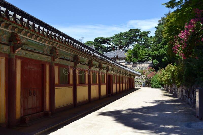 Na maneira ao templo de Bulguksa em Gyeongju O PIC era Augu recolhido foto de stock