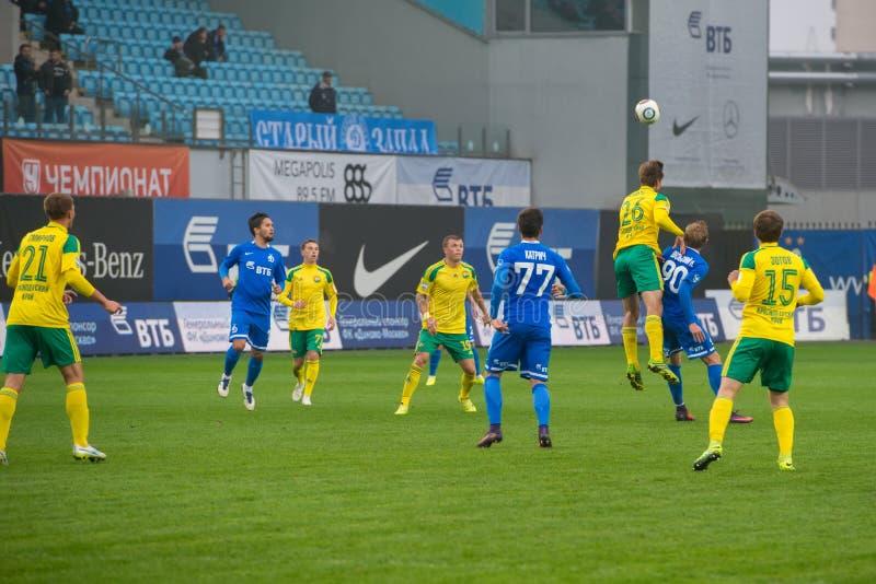 Na meczu piłkarskim fotografia royalty free