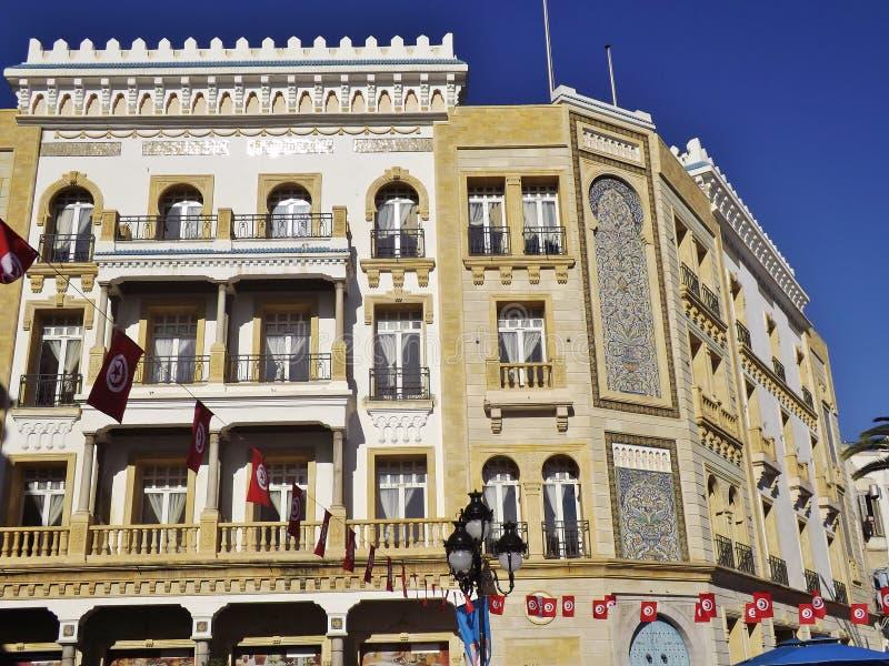 Na miejscu De Los angeles Victoire w Tunis, Tunezja, afryka pólnocna zdjęcie stock