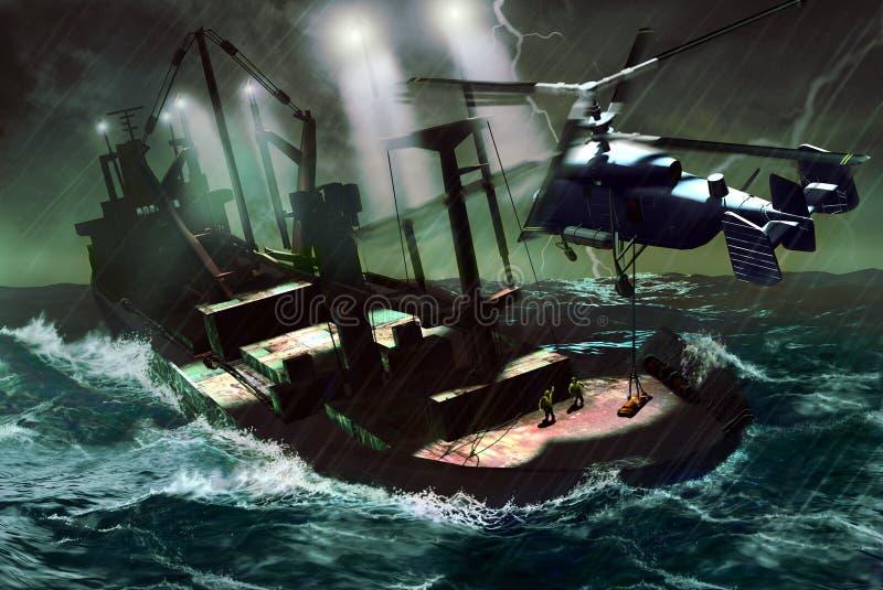 na morzu ratunek ilustracja wektor