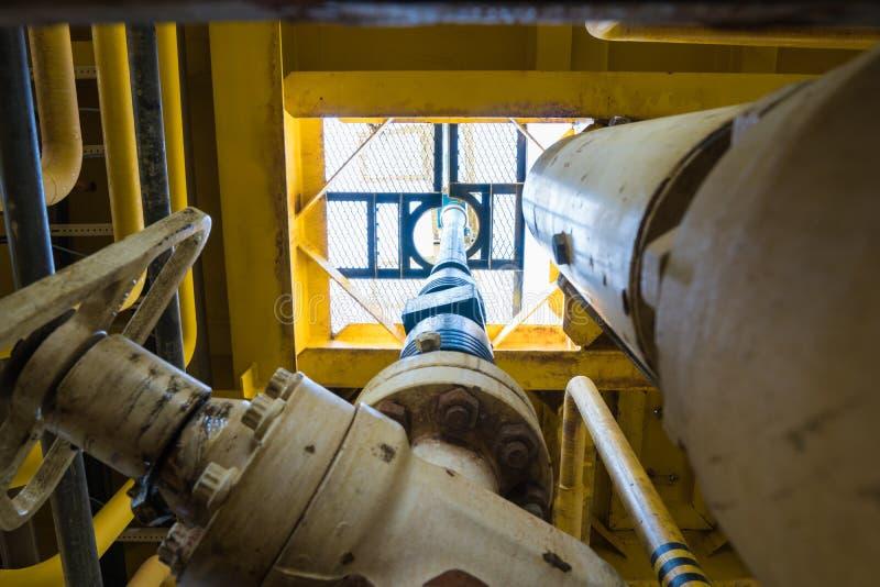 Na morzu ropa i gaz produkci i eksploraci biznes obrazy stock