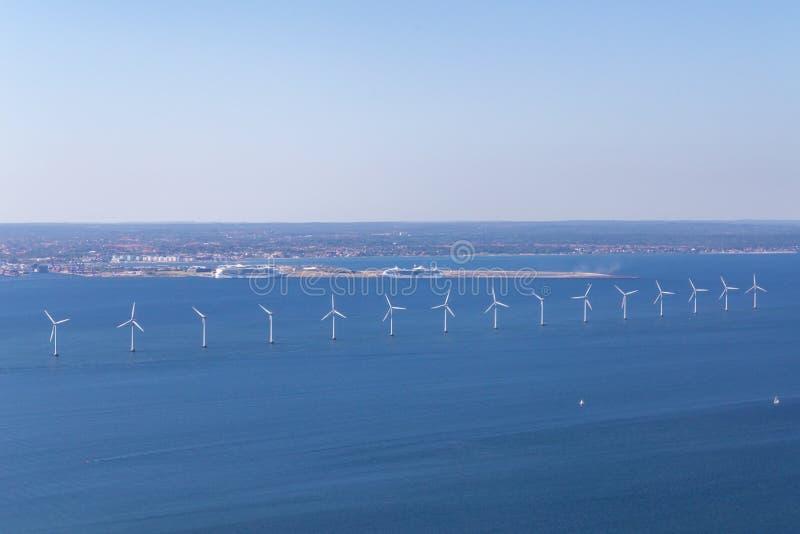 Na morzu siła wiatru rośliny w Kopenhaga, Dani obraz royalty free