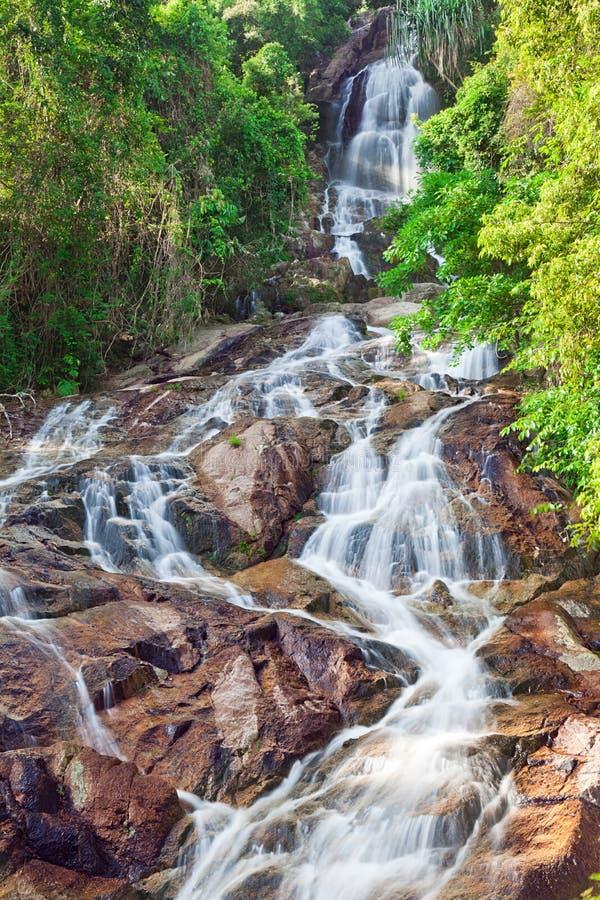 Na Muang 2 waterfall, Koh Samui, Thailand royalty free stock photography