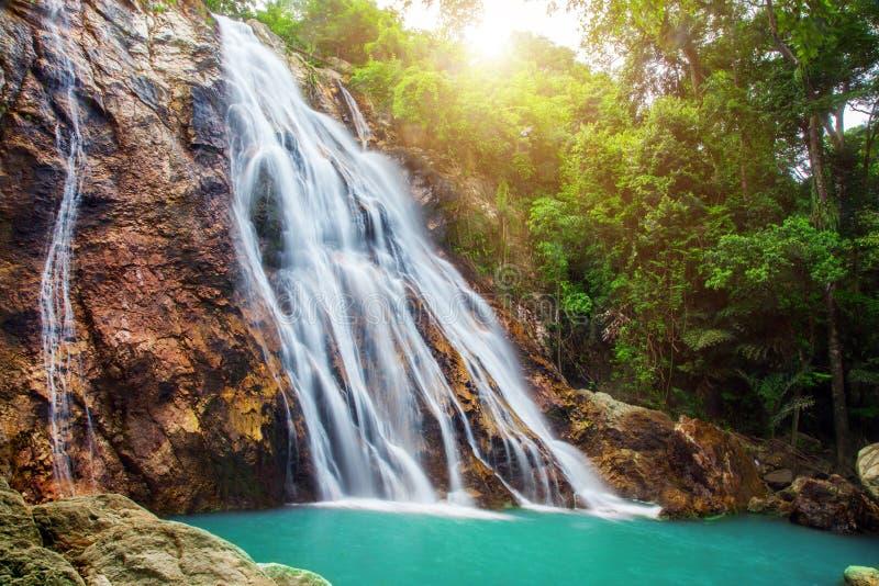 Na Muang 1 waterfall, Koh Samui, Thailand. This is Na Muang 1 waterfall, Koh Samui, Thailand stock image