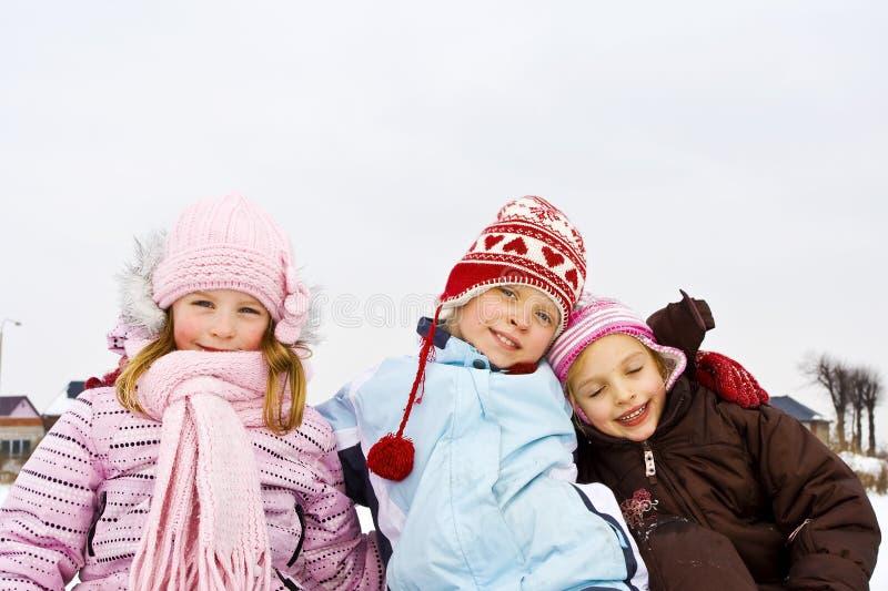 Na neve imagens de stock