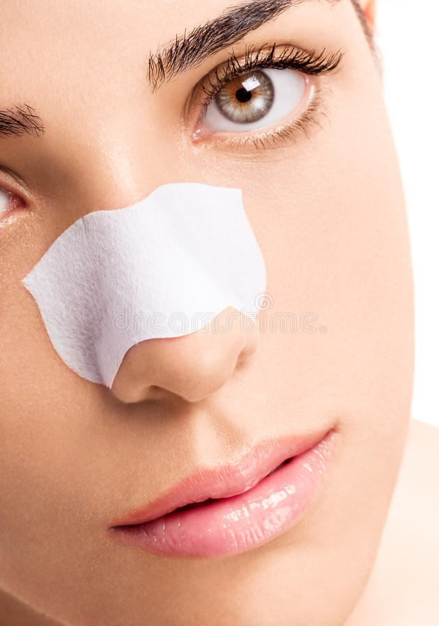 Na Nosie Skincare Pasek zdjęcia stock