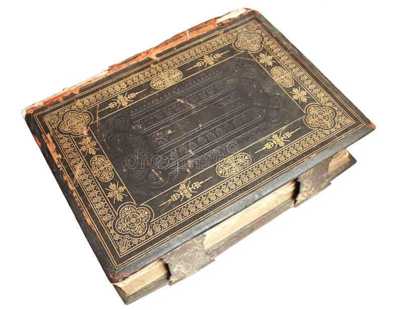 Na odosobnionym biały tle stara biblia obrazy royalty free