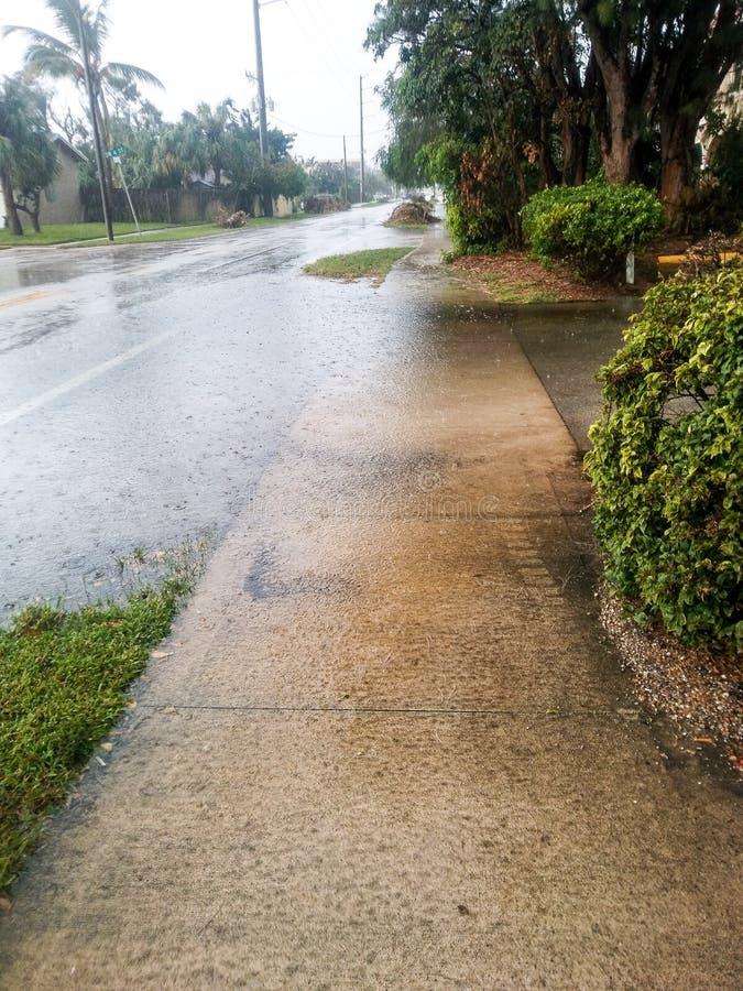 Na Orkaan Irma stock foto's