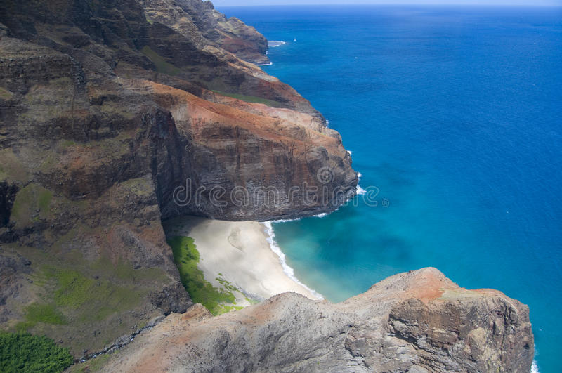 Na Pali Coast aerial view stock photo