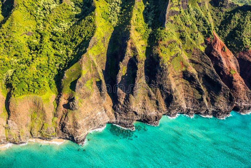 Na pali coast in Kauai Hawaii stock photo