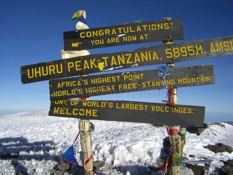 Na parte superior de Mt. Kilimanjaro. imagem de stock royalty free