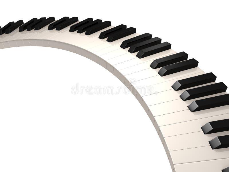 - na pianinie royalty ilustracja