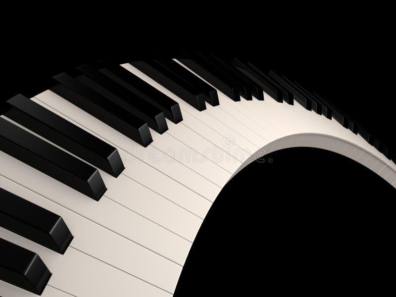 - na pianinie ilustracja wektor