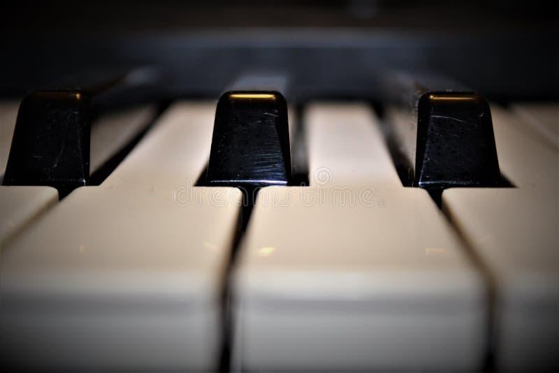 - na pianinie fotografia stock
