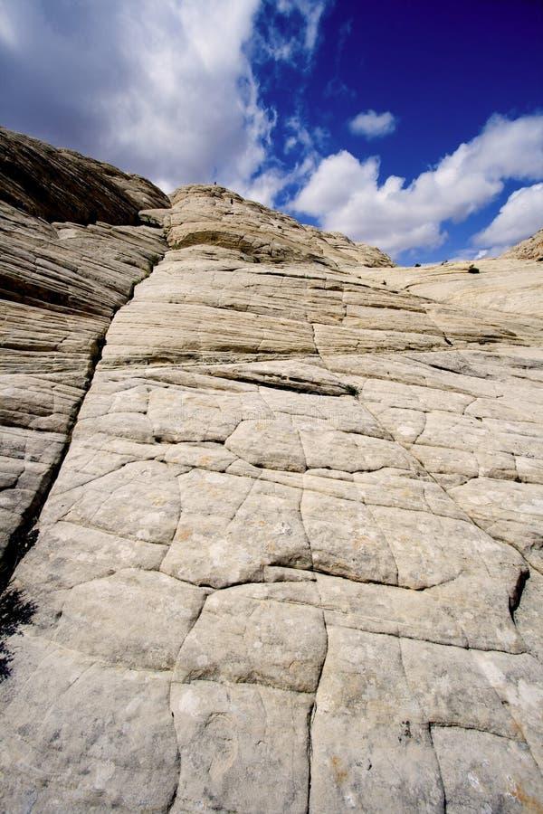 na piaskowów jarów śnieg w Utah zdjęcie stock