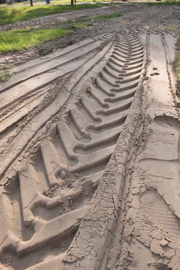Na piasku opona ślada zdjęcie royalty free