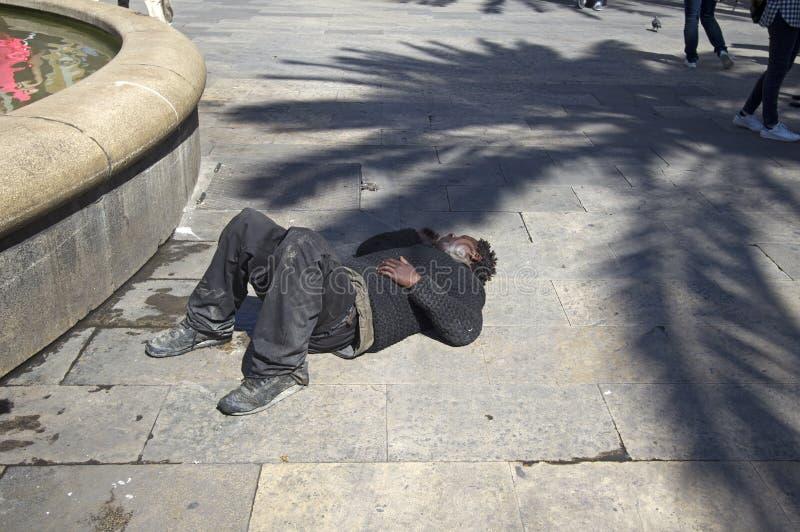 Na pior em Barcelona fotografia de stock royalty free