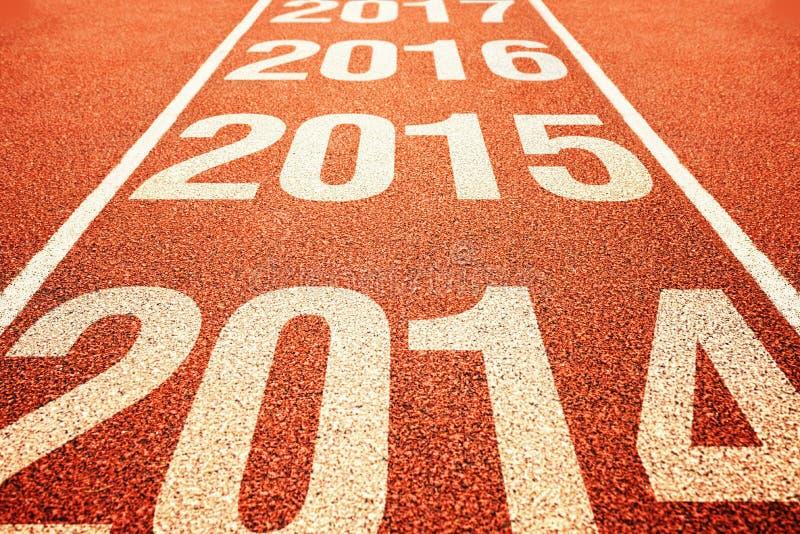 2015 na pista de atletismo para qualquer tempo do atletismo imagem de stock