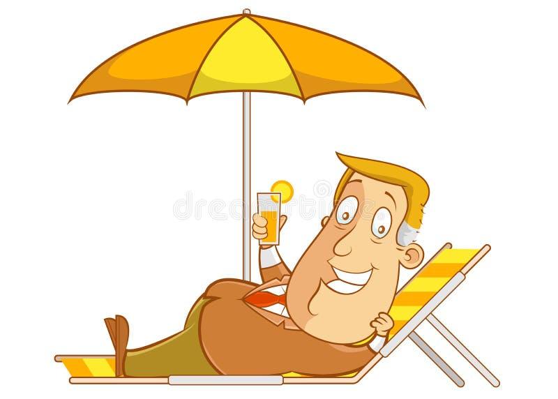 Na plaży ilustracji