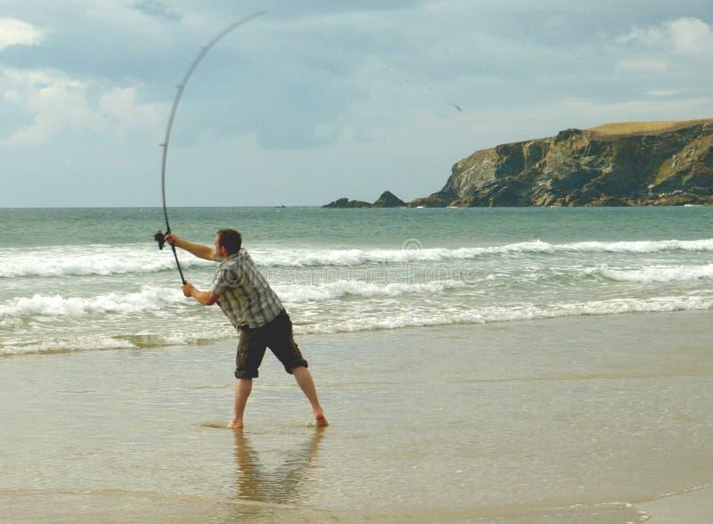 na plaży morza połowów obrazy royalty free