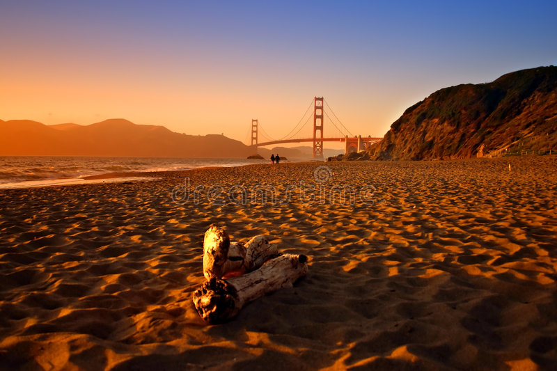 na plaży San Francisco baker obrazy royalty free