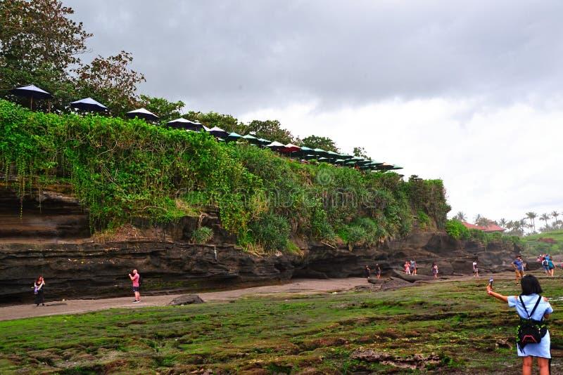 Na plaży zaraz po deszczem obrazy royalty free