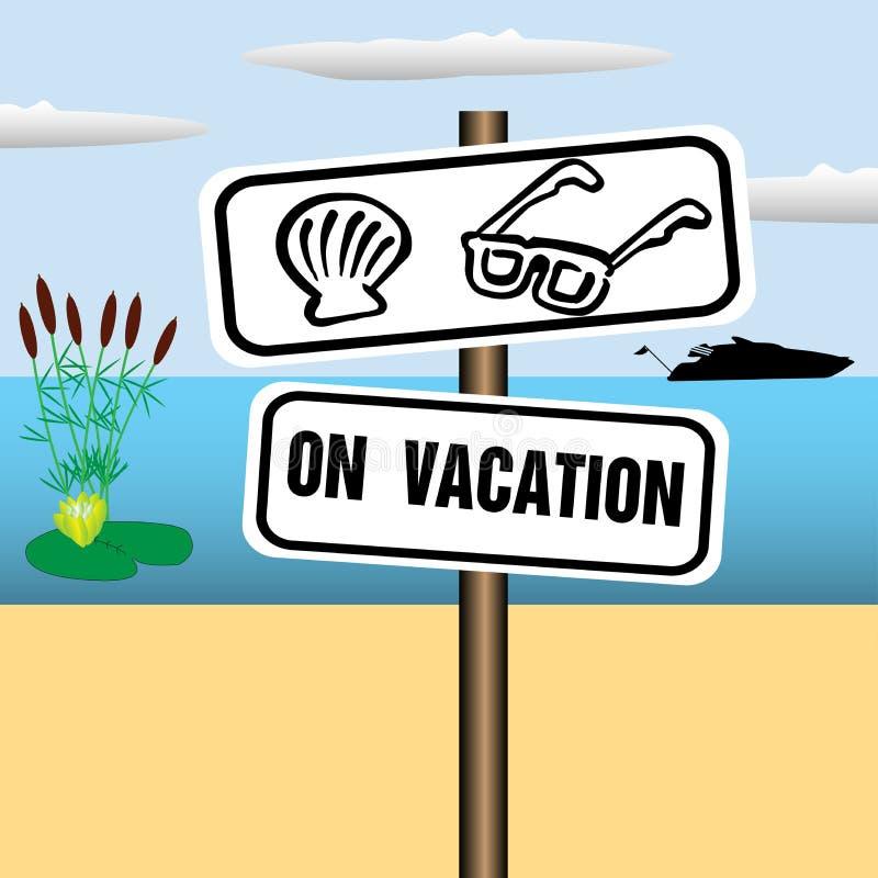 Na placa das férias ilustração royalty free