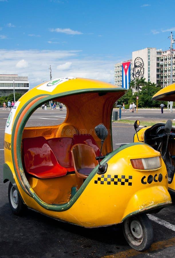 Na Placu Coco taxi De Los angeles Revolucion, Havana obrazy stock