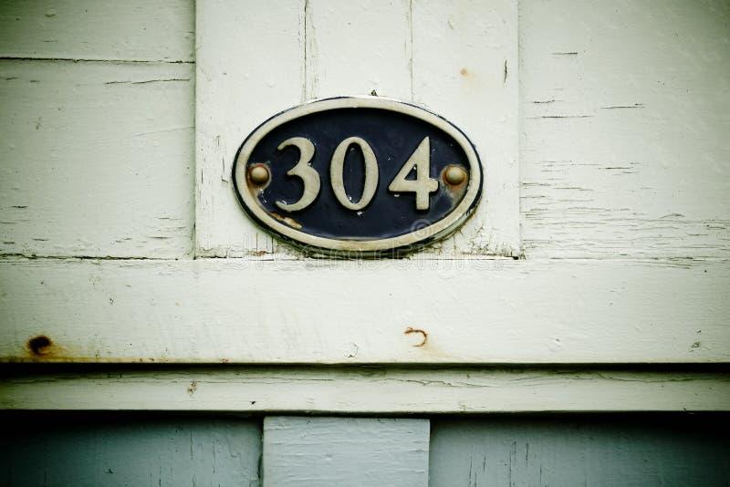 304 na plakiecie zdjęcia royalty free