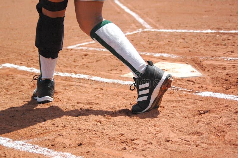 Download Na początek zdjęcie stock. Obraz złożonej z softball, buty - 140272