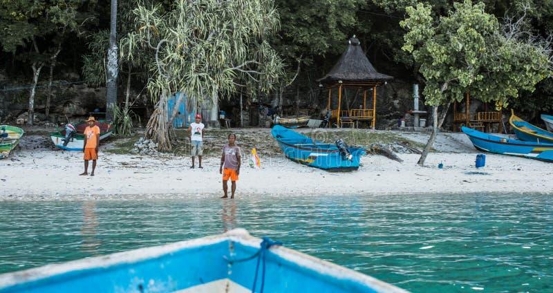 Na podejściu wioska rybacka fotografia royalty free