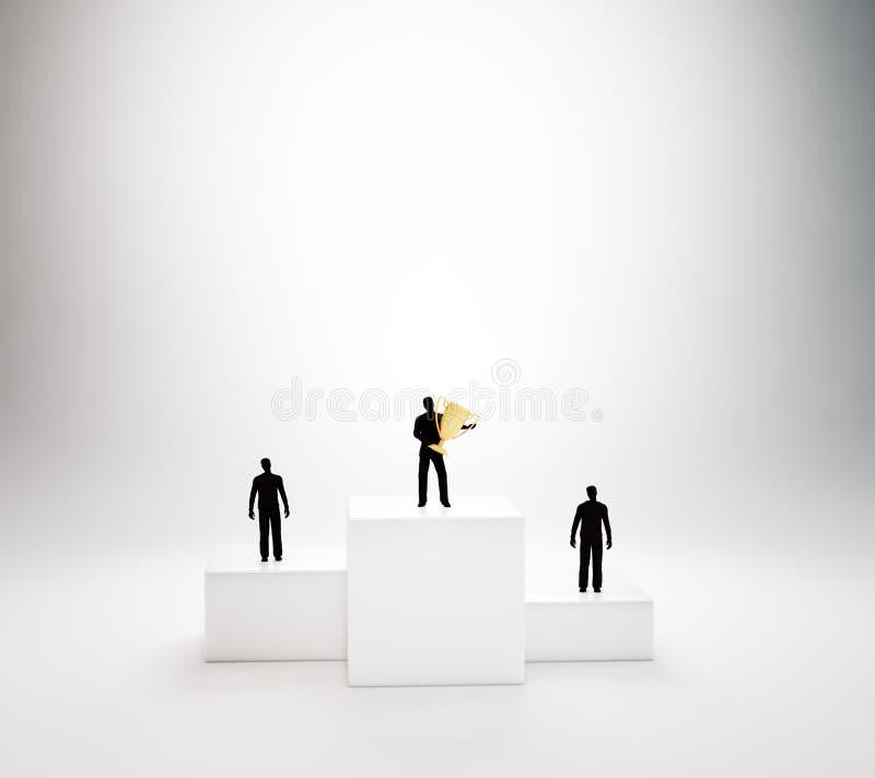 Na podium malutcy ludzie ilustracja wektor