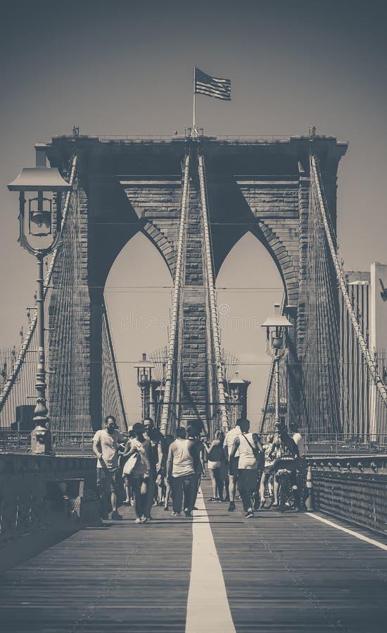 Na ponte de Brooklyn imagem de stock
