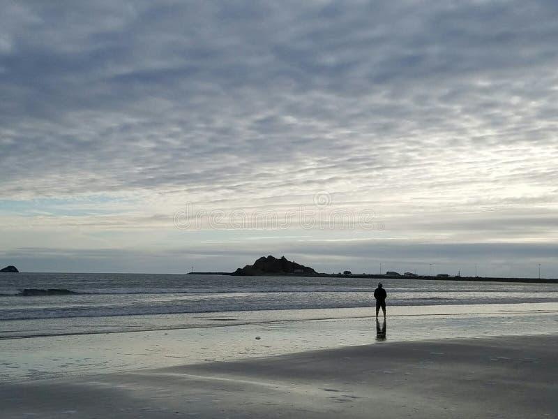 Na praia de Califórnia imagem de stock royalty free