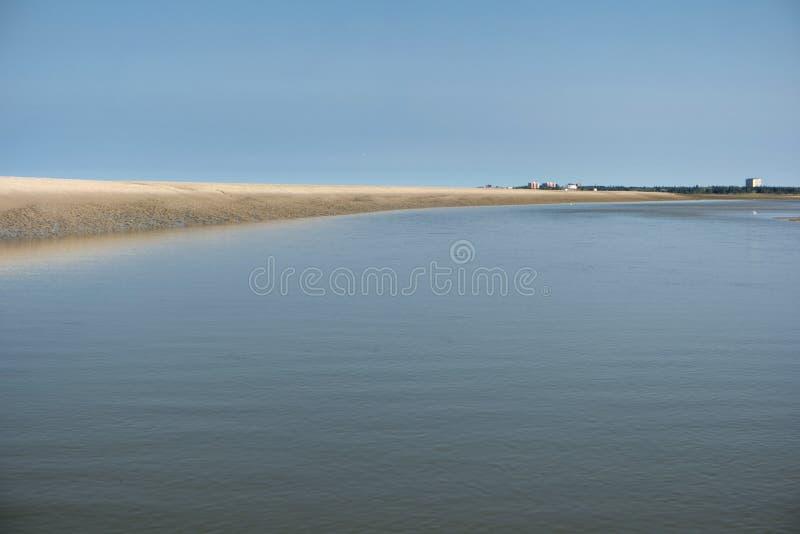 Na praia de St Peter-Ording imagem de stock royalty free