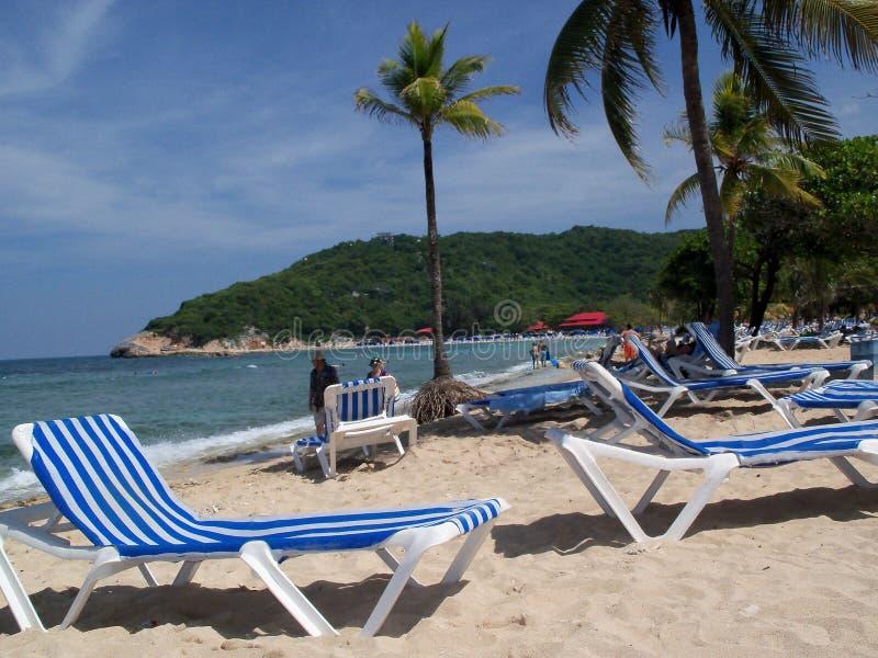 Na praia em Haiti fotografia de stock