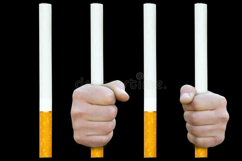 Na prisão do cigarro ilustração stock