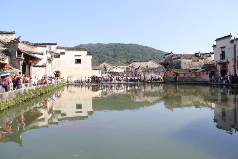 Na província de Anhui, vila de China Hongcun imagens de stock