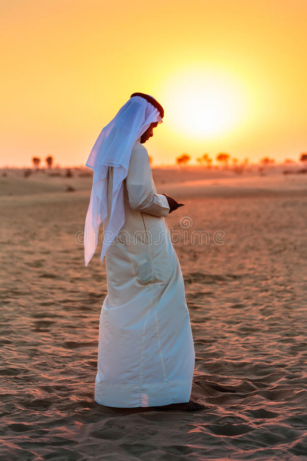 na pustynię arabską zdjęcia stock