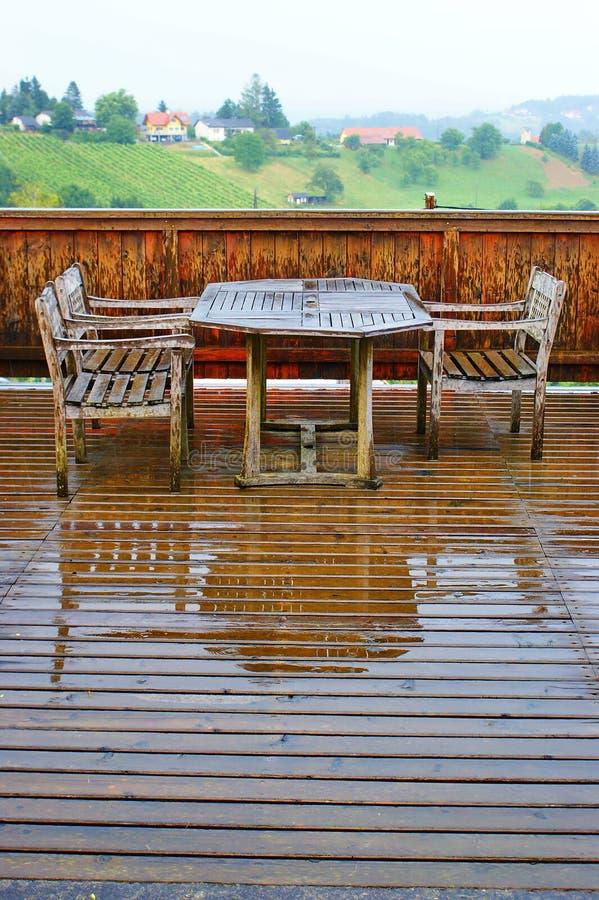Na regen stock fotografie