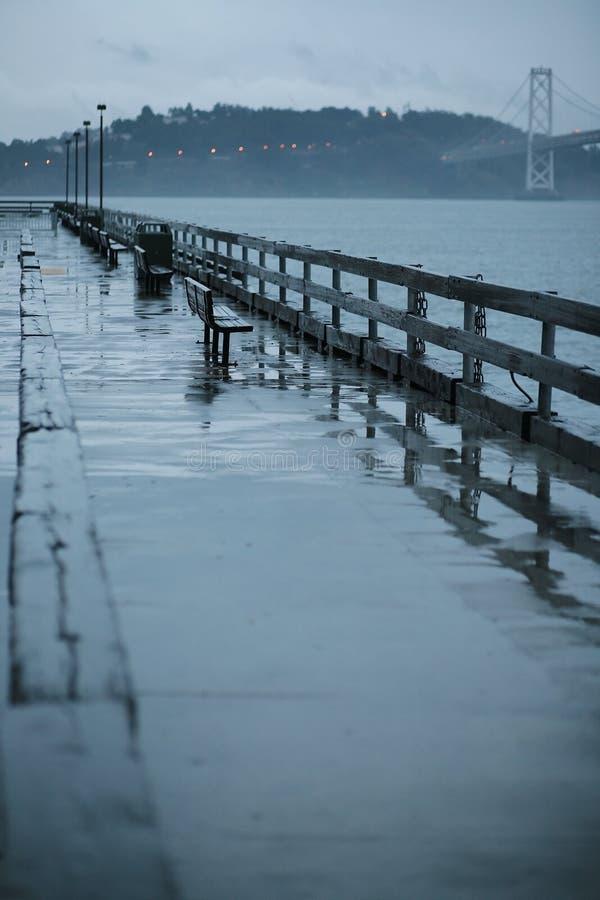 Na regen in San Francisco stock foto