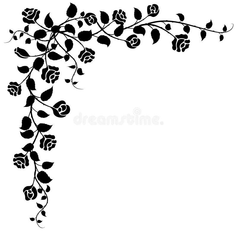 na rogu rose royalty ilustracja
