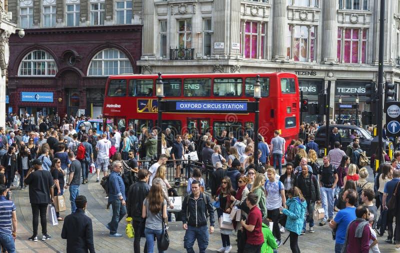 Na rua de Oxford imagem de stock royalty free